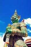 Jätte- tempelstaty Arkivbilder