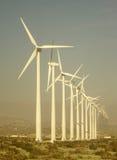 Jätte- vindturbiner i västra Texas Royaltyfria Bilder
