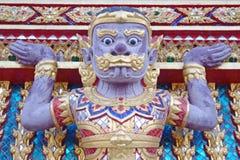 Jätte Wat Pra Kaeo Temple, Thailand Royaltyfri Bild