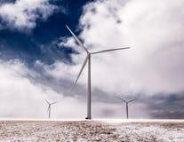 jätte- windmills Royaltyfri Foto