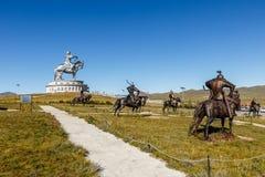 Jätten Genghis Khan royaltyfri fotografi