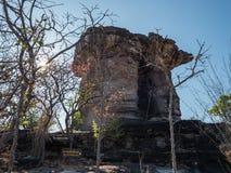 Jätten vaggar pelare i Ubonratchathani, Thailand royaltyfri fotografi