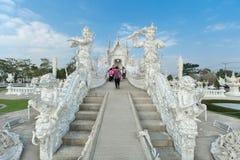Jättestuckatur på Wat Rong Khun arkivfoto