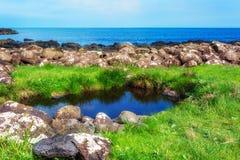Jättevägbank i norr Irland Arkivfoton