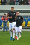 Jérôme Boateng and Franck Ribéry. Players of FC Bayern München Royalty Free Stock Photos
