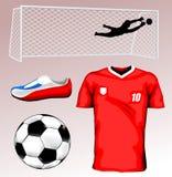 Jérsei de futebol Fotografia de Stock