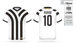 Jérsei de futebol ou molde do jogo do futebol para o clube do futebol Zombaria da camisa do futebol acima Imagens de Stock