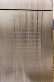 JÉRSEI, NEW-JERSEY - 28 DE OUTUBRO DE 2013: 9/11 de céu vazio Liberty State Park memorável, jérsei Foto de Stock