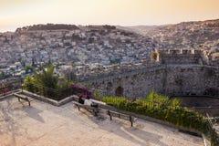 Jérusalem au coucher du soleil Photos libres de droits