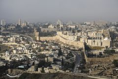 Jérusalem, Israël - 16 décembre 2016 : La ville de David Images stock