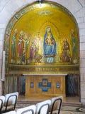 JÉRUSALEM, ISRAËL - 15 JUILLET 2015 : L'autel latéral dans Dormition C Photographie stock libre de droits