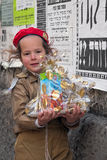 JÉRUSALEM, ISRAËL - 15 MARS 2006 : Carnaval de Purim dans le quart ultra-orthodoxe célèbre de Jérusalem - Mea Shearim Photo libre de droits