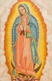 Jérusalem - la mosaïque de notre Madame de Guadalupe dans l'abbaye de Dormition photographie stock libre de droits