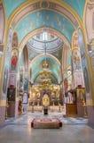 Jérusalem - la nef de la cathédrale orthodoxe russe de la trinité sainte Photos stock