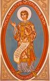 Jérusalem - la peinture de St Stephen dans le presbytère de l'église de St Stephen de 20 cent Photographie stock libre de droits