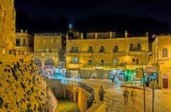 Jérusalem le soir Images libres de droits