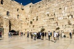 jérusalem Le tombeau juif célèbre est un mur pleurant dans la vieille ville Photos libres de droits