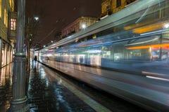 JÉRUSALEM, train de tram d'ISRAEL Light Rail est photos stock
