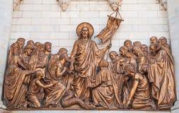 Jésus avec les apôtres et les disciples photo libre de droits