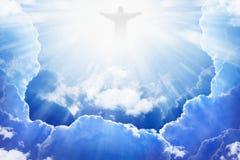 Jésus-Christ dans le ciel Image stock