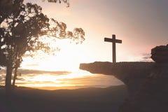 Jésus-Christ sur le dessus de la falaise Images stock