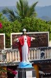 Jésus coloré et palmtrees verts Image libre de droits