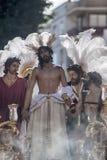 Jésus a dépouillé de ses vêtements, Pâques en Séville Images libres de droits