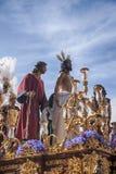 Jésus a dépouillé de ses vêtements, Pâques en Séville Photo stock