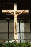 Jésus dans la croix photo stock