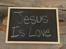 Jésus est amour Photos libres de droits
