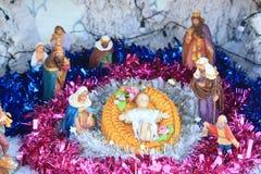 Jésus est né, scène de nativité Images libres de droits