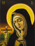 Jésus et femme de prière Images libres de droits