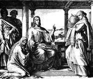 Jésus, Mary, et Martha Images stock