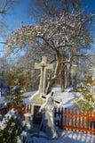 Jésus pendant l'hiver, Pologne Photographie stock libre de droits