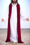 Jésus ressuscité se tenant sur le sable Photo libre de droits