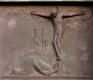 Jésus sur la croix Photographie stock libre de droits
