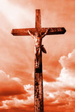 Jésus sur la croix Photos stock