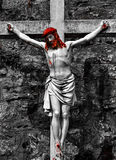 Jésus sur la croix Image stock
