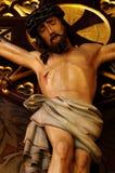 Jésus sur les détails croisés 2 du baroque Images libres de droits