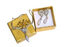 Jóia do ouro Imagem de Stock Royalty Free