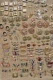 A jóia do vintage do bronze decorou a pedra dos grânulos Imagem de Stock