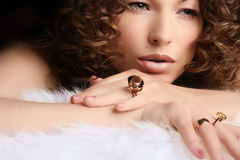 Jóia e beleza Imagens de Stock Royalty Free