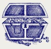 Jóia e uma caixa ilustração royalty free