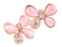 jóia earrings em um fundo foto de stock