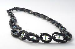 Colar de Ecojewelry da câmara de ar da bicicleta Fotografia de Stock