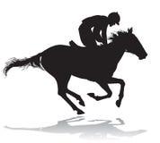 Jóquei em um cavalo 4 Fotografia de Stock