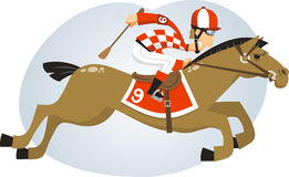 Jóquei em uma ilustração da corrida de cavalos ilustração stock