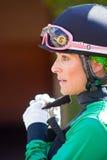 Jóquei fêmea Chantal Sutherland Fotografia de Stock