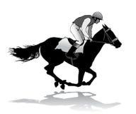 Jóquei no cavalo Foto de Stock Royalty Free