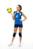 Jóvenes, jugador de voleibol de la belleza Fotografía de archivo libre de regalías
